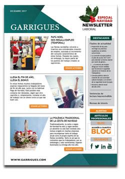 labor newsletter december 2017 garrigues