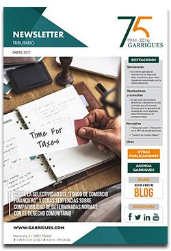 Newsletter tributario enero 2017 garrigues for Oficina recaudacion oviedo