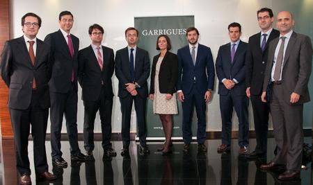 Los nuevos socios de Garrigues hoy en Madrid
