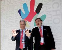 Antonio Garrigues y Jaime Lissavetzky, secretario de Estado para el Deporte en un momento de las jornadas