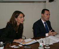 Biópolis manager Ignacio González  and Garrigues partner Dulce Miranda