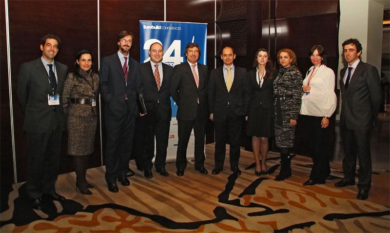 Los profesionales de Garrigues que participaron como ponenetes en la jornada en Bucarest.
