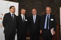 Ricardo Gómez, José Luis Buendía, Joaquín Almunia y Antonio Garrigues
