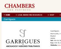 Chambers reconoce el excelente trabajo de los profesionales de Garrigues