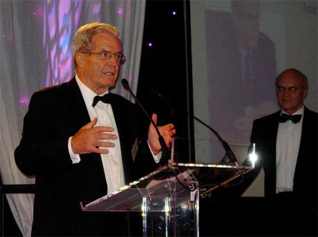 Antonio Garrigues durante su discurso de gradecimiento por el Premio 'Lifetime Achievement'