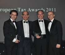 Partner Juan Reig, Miguel C. Reis, Fernando Castro Silva and Ángel Calleja at ITR awards ceremony.