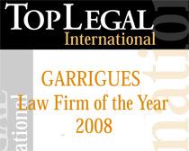 """La publicación explica que """"la clave del éxito de Garrigues en el 2008 ha sido el continuo desarrollo internacional a través de una estrategia ibérica"""