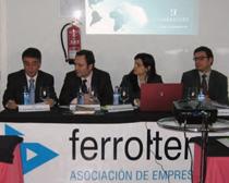 José Manuel González (Ferrolterra), Martín Pedre, Silvia Caamaño e Ignacio Fernández Romero en la jornada celebrada en Ferrol.