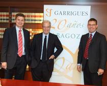 Juan Luis Falcón, Antonio Garrigues y Fernando Rey celebraron con instituciones y empresas el XX aniversario de la oficina aragonesa