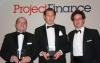 José Miguel Pinillos, Rodrigo Beratagegui and Gaspar Atienza represent Garrigues in the Euromoney ceremony